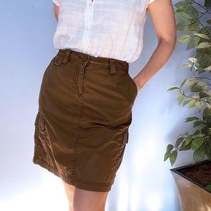 J Crew Cargo Skirt Khaki Size 4 with Pockets